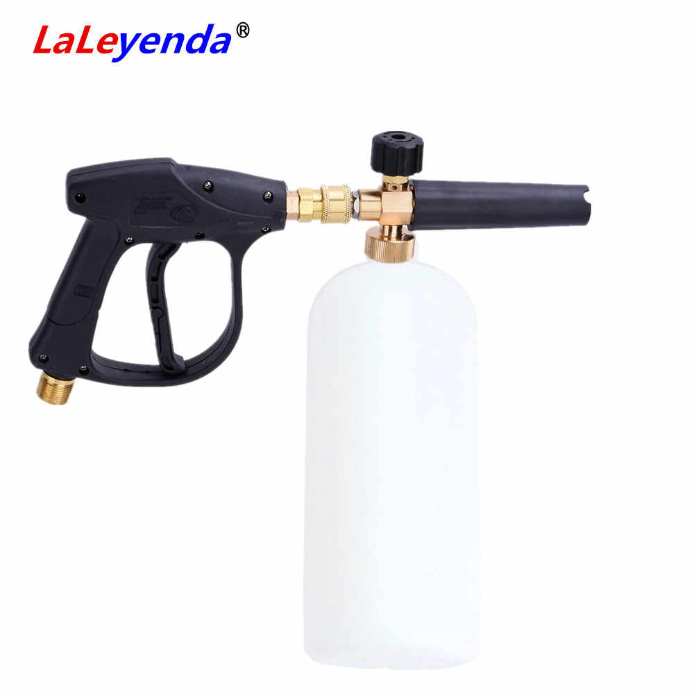 "LaLeyenda 1/4"" Quick Release Snow Foamer Washer Gun Soap Lance Cannon Spray Pressure Jet motorcycle  Car Wash Foam Bottle 1000ML"
