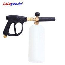 """LaLeyenda رغوة مولد مع G1/4 """"الإفراج السريع مدفع مغسلة ضغط الصابون مدفع انس رذاذ دراجة نارية غسيل السيارات الأنظف 1000 مللي"""