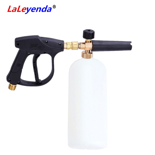 """LaLeyenda générateur de mousse avec G1/4 """"dégagement rapide nettoyeur haute pression pistolet savon canon Lance jet moto lave auto nettoyant 1000ML"""