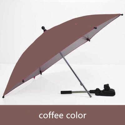 Аксессуары для детских колясок, зонтик, цветной зонт для детей, зонт, регулируемый складной зонт для стула, однотонный, 7 цветов, переносной