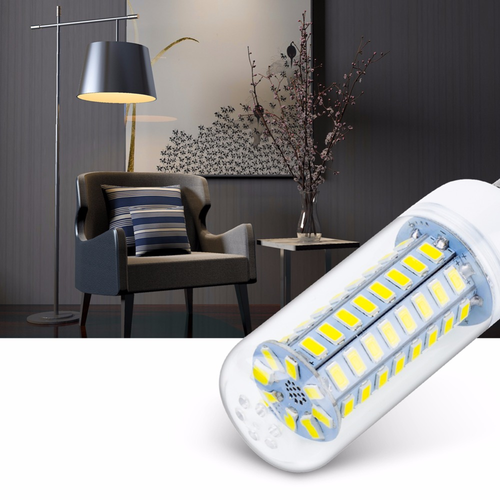 E14 240V LED Lamp SMD5730 Corn Bulb 24 36 48 56 69 72LEDs E27 220V LED Corn Lights Chandelier Lighting For Home Decoration 230V