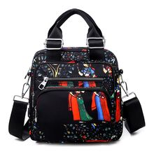 New Ethnic Style Printing Hand Shoulder Bag Middle School Student Outdoor Wild Female Small Bags
