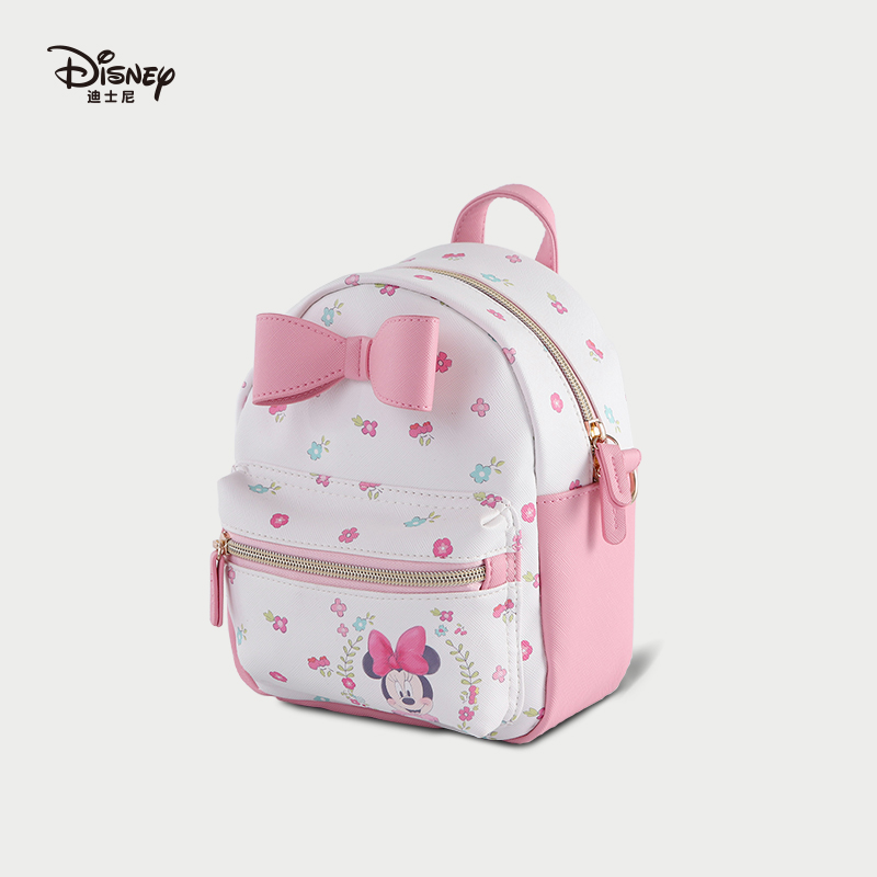 Disney Fashion Minnie Printing Backpack Bags Multifunction Mummy Bag Outdoor Large Capacity Girl Bag Shopping Bag