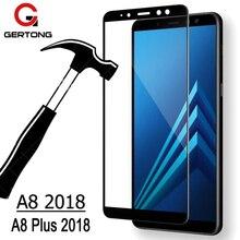 GerTong Protezione Dello Schermo Per Samsung Galaxy A8 2018 A530F Pieno Della Copertura di Vetro Temperato Per Samsung A8 Più 2018 A730F di Sicurezza di vetro