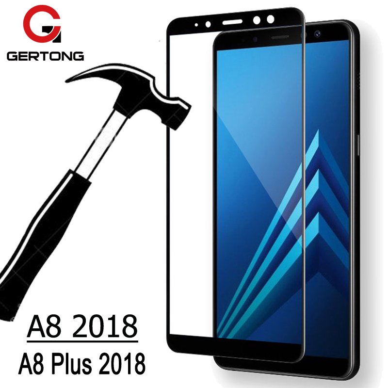 GerTong Screen Protector For <font><b>Samsung</b></font> Galaxy A8 2018 A530F Full Cover Tempered <font><b>Glass</b></font> For <font><b>Samsung</b></font> A8 Plus 2018 A730F Safety <font><b>Glass</b></font> image
