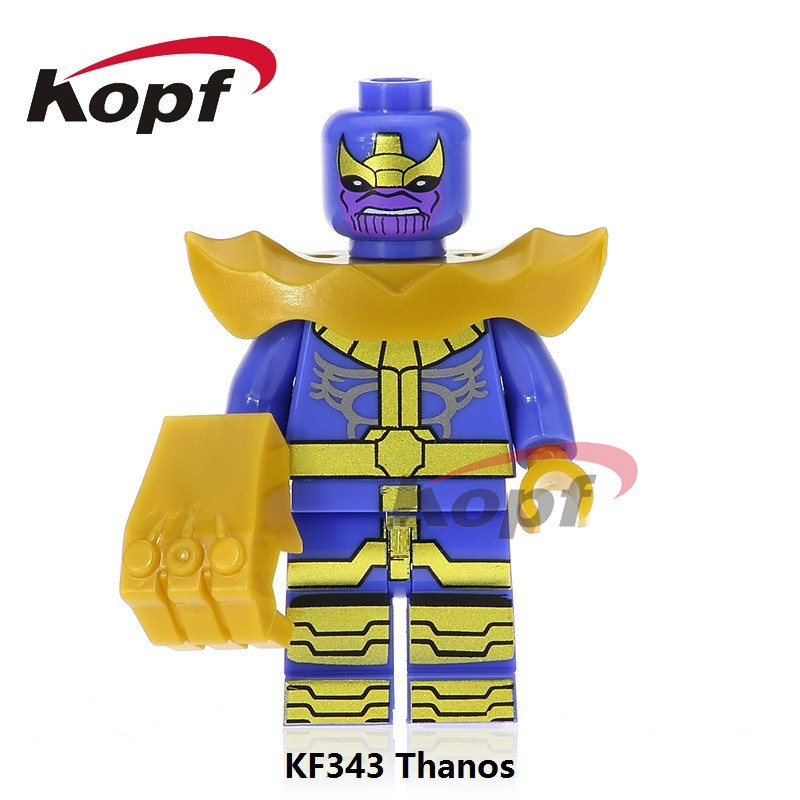 Single Sale Super Heroes Thanos De-MK1 MK-1 Iron Man Vision Hulk Stallone Firestorm Building Blocks Children Gift Toys KF343 building blocks super heroes back to the future doc brown and marty mcfly with skateboard wolverine toys for children gift kf197