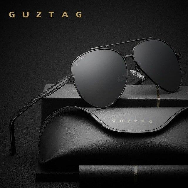 8f01dc20ab4fc GUZTAG Marca de Moda Clássico Óculos Polarizados Óculos de Sol do  Desenhador Dos Homens HD Óculos