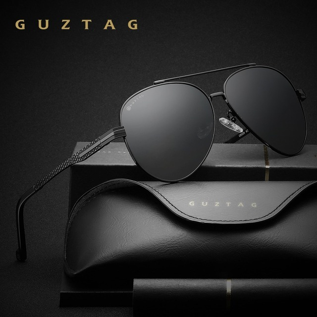 abfb5b305 Guztag ماركة أزياء كلاسيكية الاستقطاب مصمم hd حملق نظارات شمسية رجالية  نظارات شمس uv400 للرجال G8009