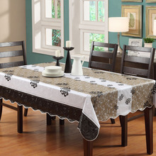 137*183cmFlannel-Backed Wipe Clean PVC Vinyl Tablecloth Dining Kitchen Table Cover