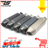 ZS Racing 370MM Akrapovic Motorcycle Scooter Modified Exhaust Muffler Pipe For CB CBR GSXR TMAX530 Z750