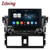 Idoing 2Din Steering Wheel For Toyota Yaris Android5 1CAR DVD Player GPS Navigation Bluetooth Radio TV