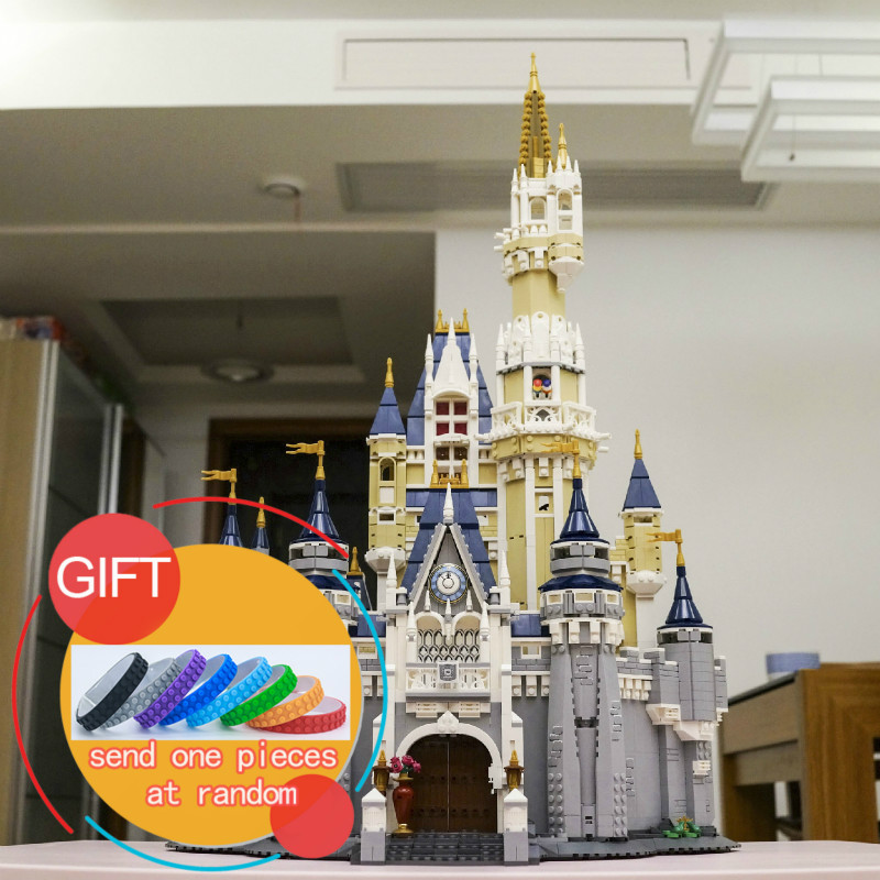 16008 4080pcs Cinderella Princess Castle City set Model Building Mini blocks Kid Gift Compatible with 71040 Toys lepin lepin 16008 creator cinderella princess castle city 4080pcs model building block kid toy gift compatible 71040