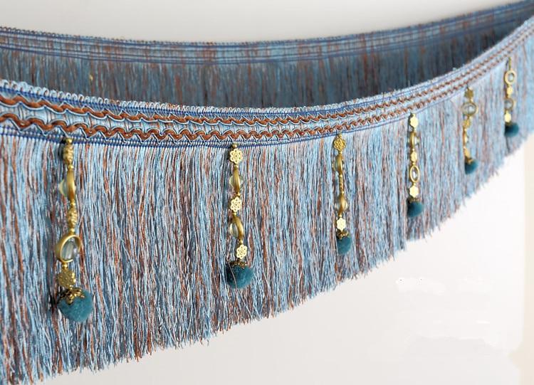 XWL 12 Yards / Lot Curtain Lace Tilbehør Pompon Perler Lace Tassel - Kunst, håndverk og sying - Bilde 5