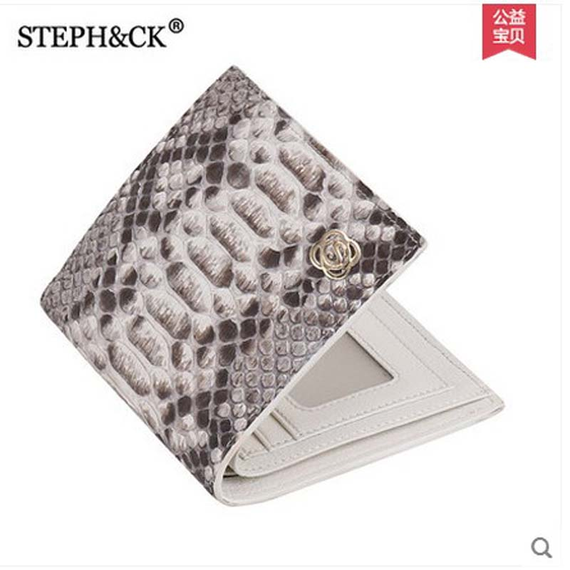 2018 shidifenni Python skin women Purse lady real leather wallet short multi-card snake skin wallet girl 100% real genuine authentic snake skin men s bifold python snake wallet credit card money cash holder and case black free ship