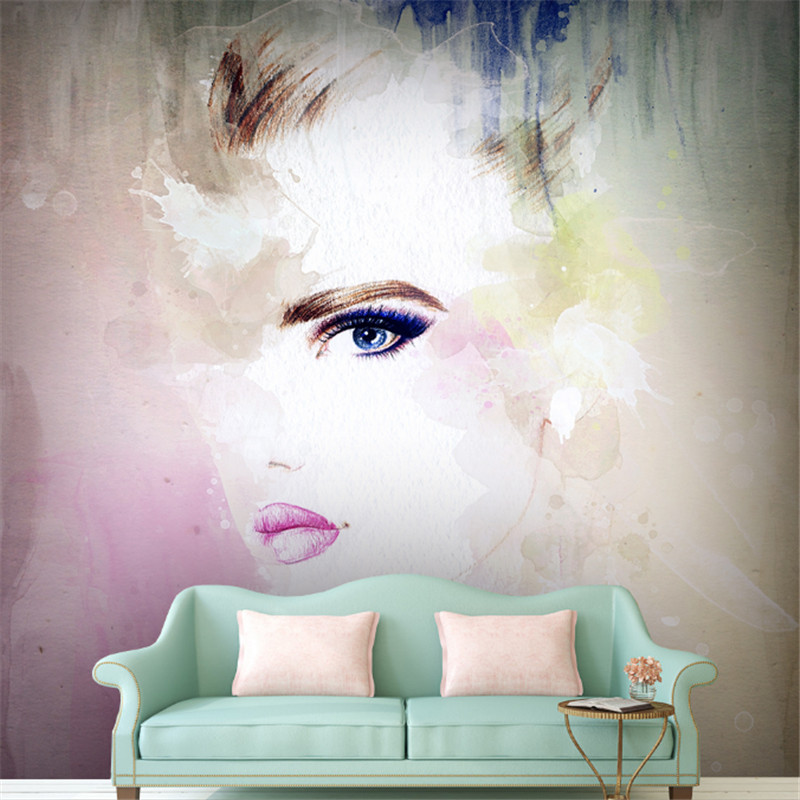 custom modern 3d photo non-woven wallpaper wall 3d mural wallpaper watercolor avatar background wall home decor for study room beibehang modern luxury circle design wallpaper 3d stereoscopic mural wallpapers non woven home decor wallpapers flocking wa
