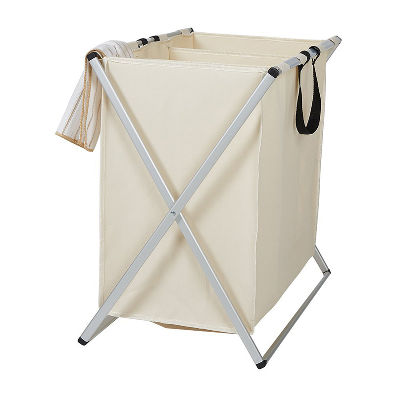 Folding 3 Bag Folding Laundry Sorter Hamper Organizer Washing Clothes  Basket Storage Beige Dirty Clothes Rack In Storage Boxes U0026 Bins From Home U0026  Garden On ...