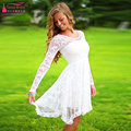 Vestido de formatura Lace Long Sleeve Homecoming Dresses Short Prom Dress white Dynamic Party Dress Short Bridal Gowns Z283