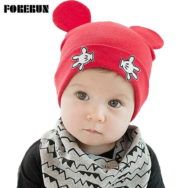 2018 новые детские зимние шапки с ушками мультфильм печати ладони рук Label  детские шапки для девочек 376dc403341aa
