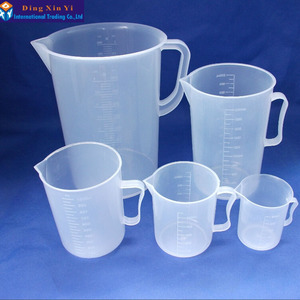 Image 4 - 1PC 5000ML plastic measuring lab beaker with handle Clear White Plastic Measuring Cup Beaker