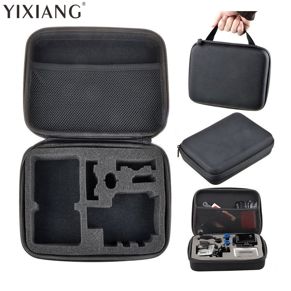 YIXIANG Portable Travel Storage Case Collection Box Protective for Gopro Hero 3/4 Sj 4000 XiaomiYi Action Camera Sport Cam
