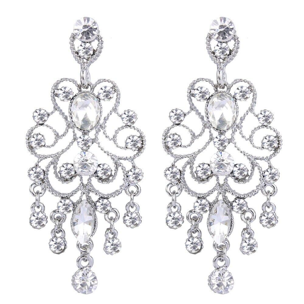 Bella New Vintage Style Chandelier Dangle Earrings Austrian Crystal Bridal  Earrings Wedding Accessories For Lover Gift