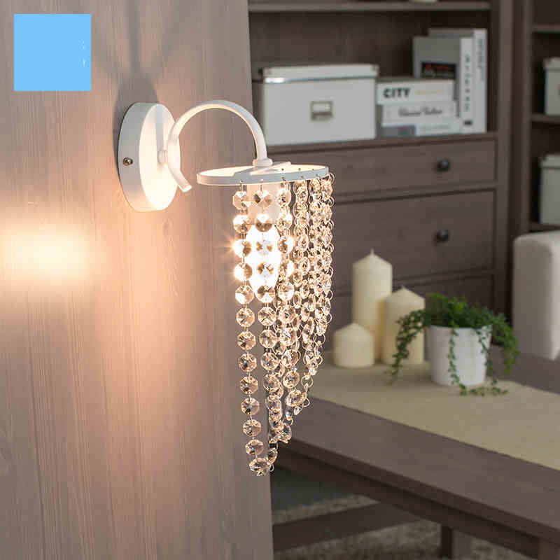 Modern crystal K9 wall lamp led light Europe style vintage bedside lamps balcony stair light rustic Led wall light E14 k9 crystal wall lamp modern wall light decorative lamps and includes led bulbs free shipping