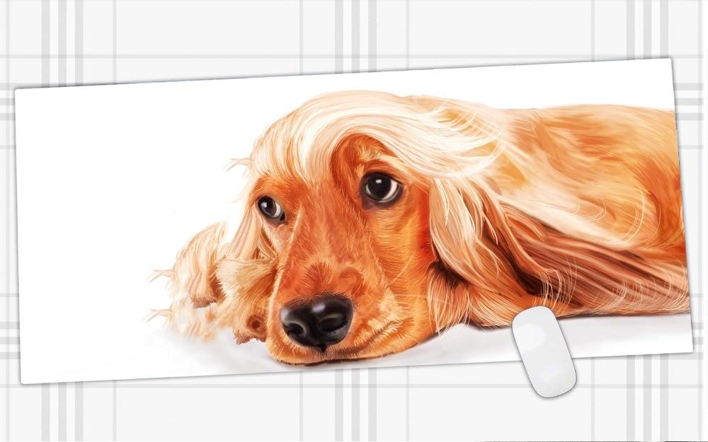 Прекрасная собака Большие Резиновые gaming keyboard коврик для мыши 90*40 см и края скоростью замок версия компьютер коврик для профессиональный gamer