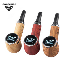 SUB TWO Vape Dry Herb Vaporizer 1100mah Wooden Pipe LED Electronic Cigarette Vaper Tempreture Control Screen Tobacco Hookah Pen