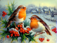 5d Diy Diamond Painting Cross Stitch Birds Stickers Diamond Embroidery Scenery Crystal Round Diamond Mosaic Pictures
