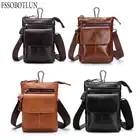 FSSOBOTLUN, pour Blackview P10000 Pro/bV7000/BV6000T étui pour homme ceinture taille portefeuille sac en cuir véritable housse avec bandoulière - 6