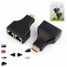 HDMI Dual RJ45 CAT5E CAT6 UTP LAN Ethernet HDMI Extender Repeater Adapter 1080P For HDTV HDPC PS3 STB