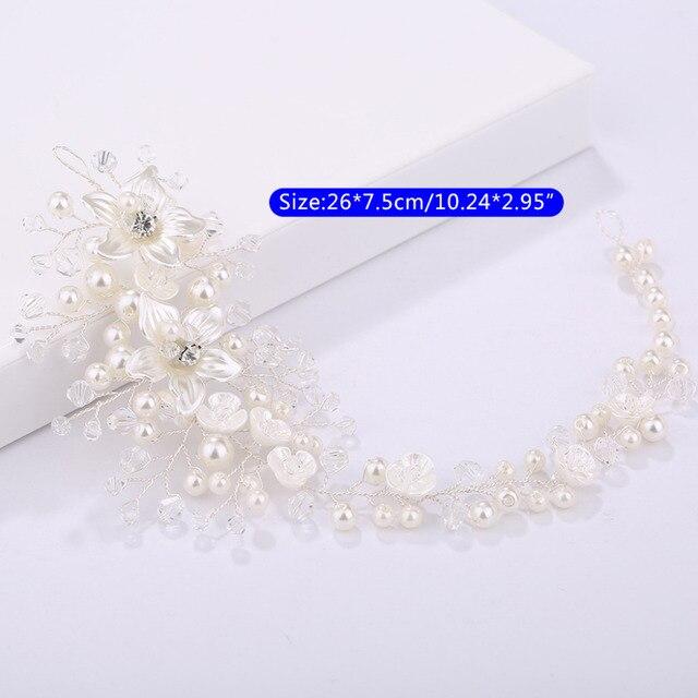 женский обруч для волос свадебный с жемчужинами и цветами украшение фотография