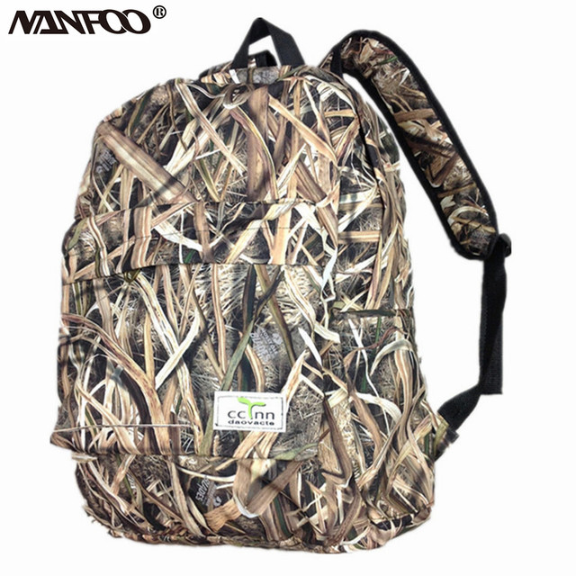 New Arrival Reed Camouflage Hunting Backpack Outdoor Bionic Camo Hiking Fishing Bag Soft Shell Inner Waterpoof Tactical Backpack