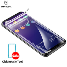 SmartDevil Screen Protector For samsung galaxy S9 plus 6D Full coverage HD Clear Hydrogel film Seamless Covering