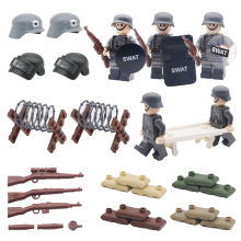 Military WW2 Weapon Pack Building Blocks SWAT City Police German Army Scene Base Gun Accessories Model MOC Brick Children Toys kazi police armored car building block swat with weapon series action model brick educational toys for children gifts