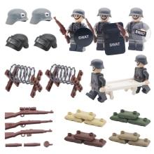 лучшая цена Military WW2 Weapon Pack Building Blocks SWAT City Police German Army Scene Base Gun Accessories Model MOC Brick Children Toys