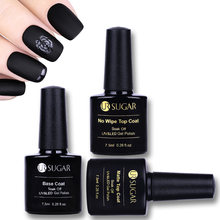 UR SUGAR 7.5 ml Base Coat No Wipe Top Coat Soak Off UV LED (China)
