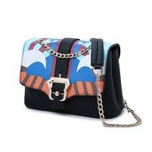 Verkauf neue 2016 Mode Graffiti PU-Leder Tasche Damen Handtasche Kupplungen Partei Taschen Frauen Handtasche Schulter Messenger Bags Umschlag