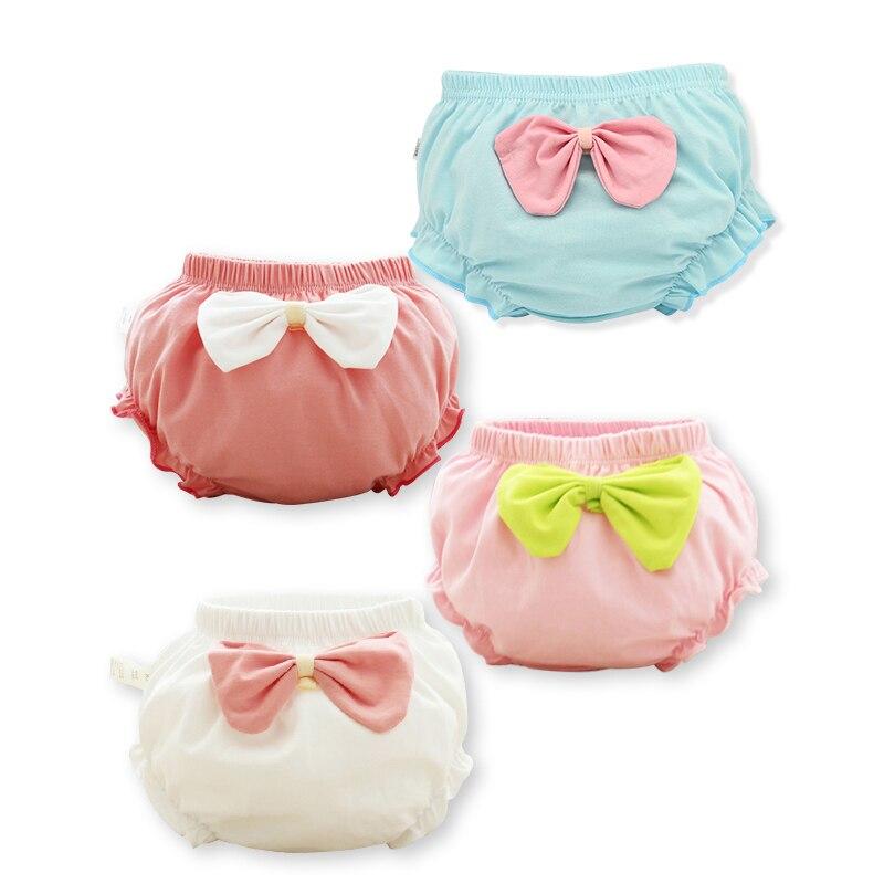4 peças/lote 100% Do Bebê Do algodão roupa interior Meninas underpanties bonito de moda de nova Crianças Sungas crianças calcinhas Curtas Frete Grátis