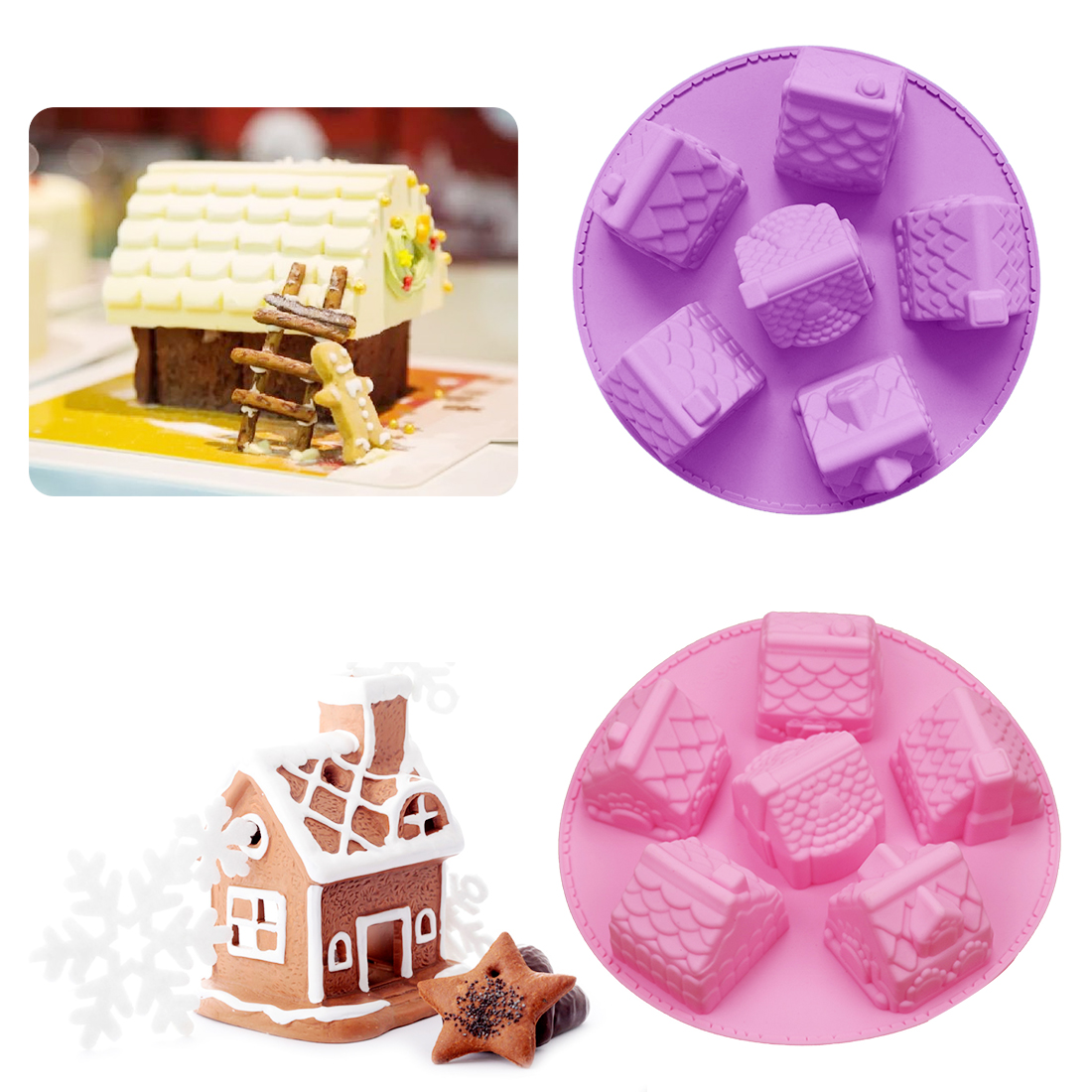 Baking & Pastry Tools Original Engdash 1pc 8 Holes Cylindrical Food Grade Silicone Cake Mould Jelly Pudding Cake Mold Diy For Kitchen Bakeware High Quality High Quality Kitchen,dining & Bar