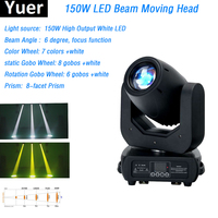 Lyre 150W White LEDs Moving Head Light Beam Zoom Stage Lights DMX512 Controller For DJ Disco Nightclub Party Moving Head Beam