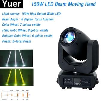 Lyre 150 Вт белые светодиоды движущаяся голова светильник увеличение луча сценический светильник s DMX512 контроллер для DJ Дискотека ночной клуб ...
