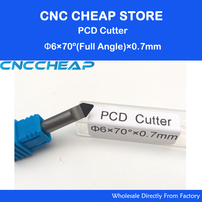 CNC Router PCD Engraving tool for V Shape cutting stone Granite, Marble,jade 6MM*70Deg*0.7mm free shipping cnc router stone and wood engraving bits 1pc 45 60 90 degree 6mm pcd bit cnc diamond hard granite tools