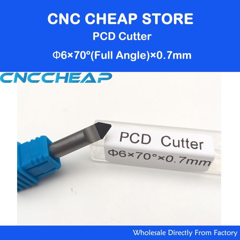 CNC Router PCD Engraving Tool For V Shape Cutting Stone Granite Marble Jade 6MM 70Deg 0