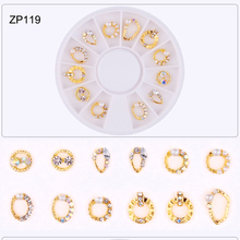 12PCS/WHEEL Nail Gems Stones Crystal Stone For Nail Art JE282 12PCS ONE OF A WHEEL Gems 3d DIY Manicure Rhinestones&Decoration # 3d nail art fimo soft polymer clay fruit slices cartoon for nail manicure sticker cell phones diy designs wheel decoration czp35