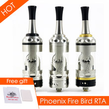 Phoenix Fire Bird RTA FireBird RBA rebuildable dripping tank atomizer thread 510 22mm fast shipping electronic cigarrate(China)