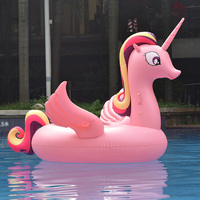 275*190*130CM Giant Unicorn Inflatable Pool Float Giant Swim Toys For Adult Water Plaything Adult Lounger Mattress Floating Raft