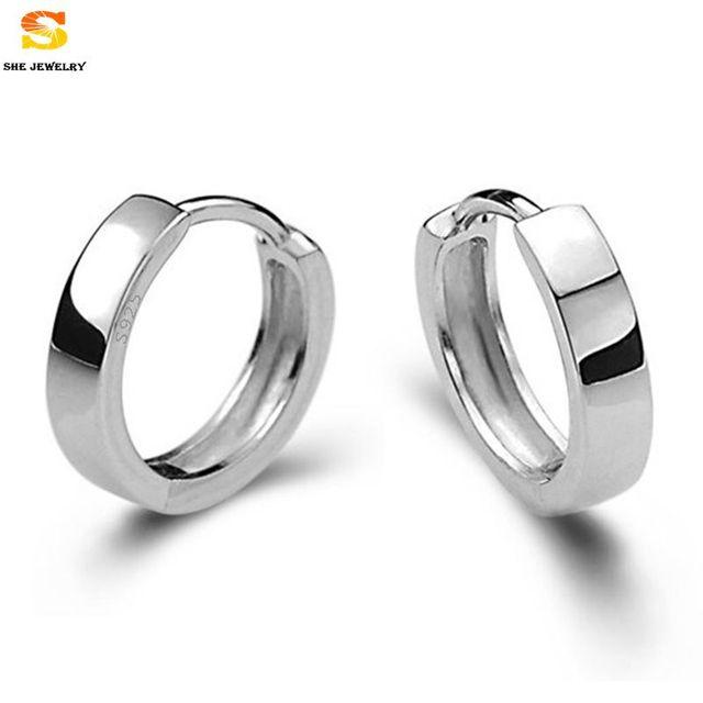 Women Men Silver Earring Simple Styles Crystal Fashion Ear Stud 925 Sterling Earrings Retail