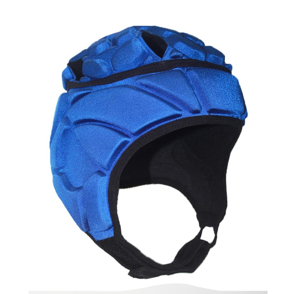 Men Professional Soccer Goalkeeper Helmet Football Sports Rugby Thick EVA Sponge Cap Head Guard Goalie Roller Hat Head Protector