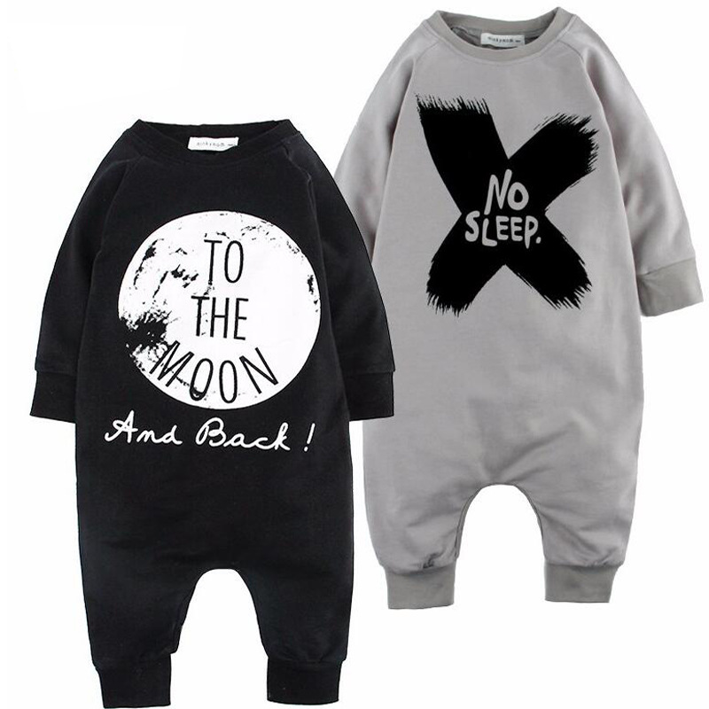 new 2017 Newborn baby boy girl clothes cotton letter style tattoo fashion printing Toddler Romper